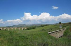 In cicloesplorazione sulla Ciclovia dell'Acquedotto Pugliese.