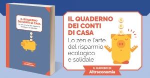 """""""Il quaderno dei conti in casa"""": anche i consigli di Fiab nel libro di Altreconomia"""