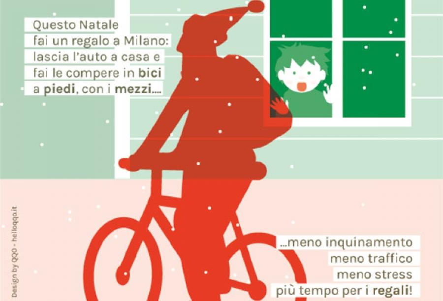 Babbo Natale In Bicicletta.Babbo Natale Esiste E Non Usa L Auto